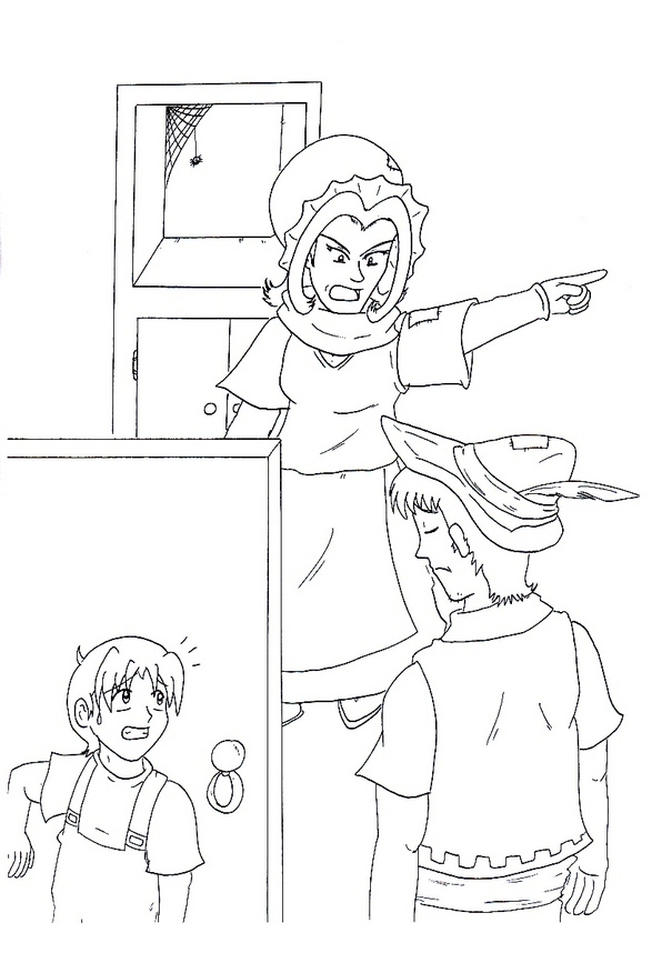 hansel si gretel coloring pages - photo#7