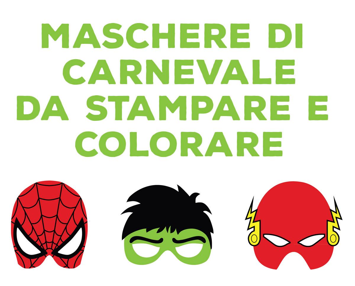Maschera Di Carnevale Da Stampare E Colorare Il Paese Dei
