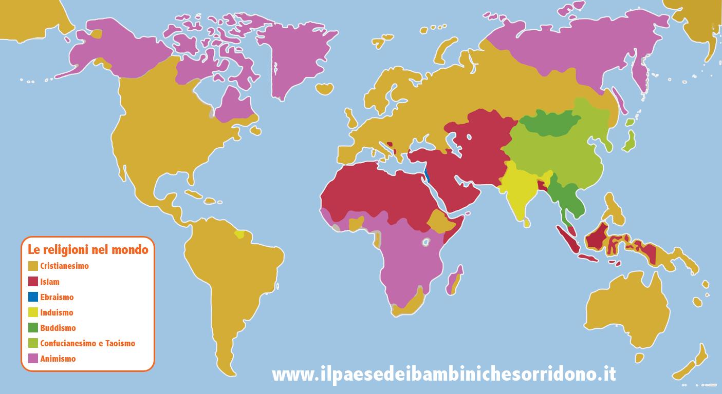 Religioni Nel Mondo Cartina.Religioni Nel Mondo Il Paese Dei Bambini Che Sorridono